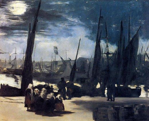 edouard-manet-moonlight-over-bologne-harbor
