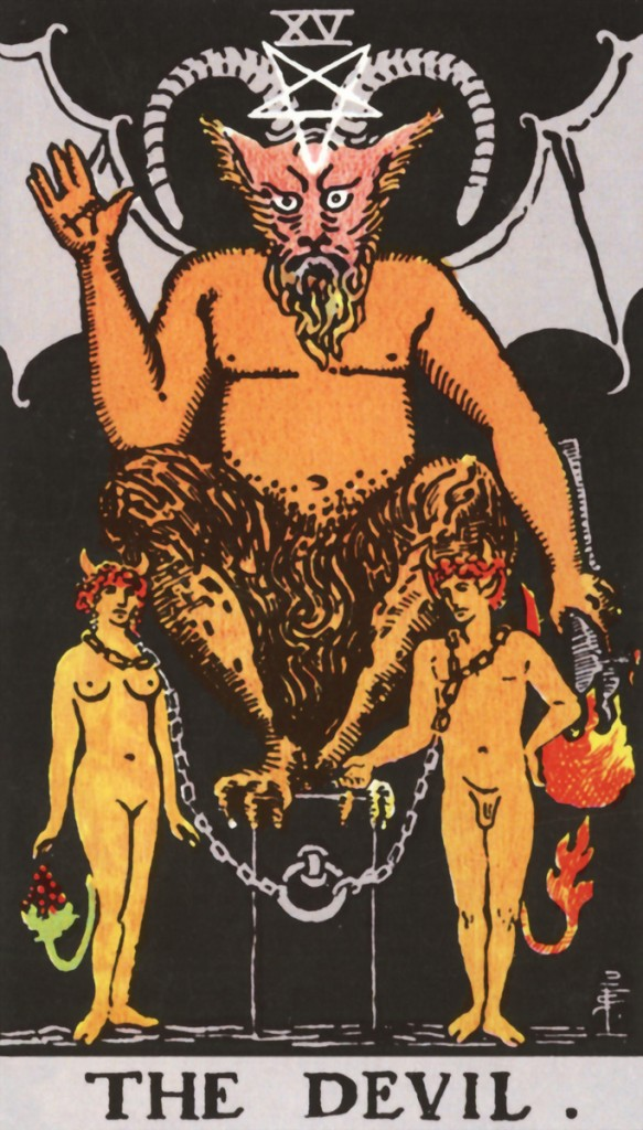 Tarot-Rider-Waite-15-The-Devil